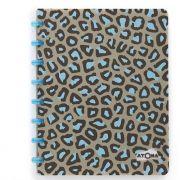 Caderno A4 Pautado Luipaard Marrom/Azul Atoma