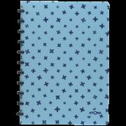 Caderno A4 Pautado Pastel Azul Claro e Marinho + Atoma