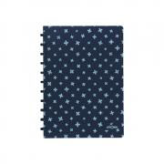Caderno A4 Pautado Pastel Azul Marinho e Claro + Atoma