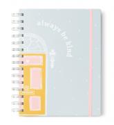 Caderno Colegial Be Kind Azul Planos Pontilhados