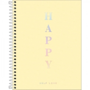 Caderno Colegial Happy Amarelo 1 Matéria Tilibra