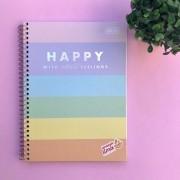 Caderno Colegial Happy Color 10 Matérias Nova Coleção