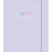 Caderno Fichario Colegial Happy Lilás Tilibra