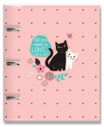 Caderno Fichario Gatos