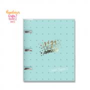 Caderno Fichario Verde Estrelas Siga seus Sonhos