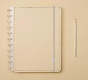 Caderno Inteligente Amarelo Pastel Grande   Laranja Lima Presentes
