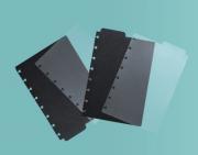 Caderno Inteligente Divisorias Preta e Transparente A5
