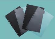 Refil  Divisorias Caderno Inteligente Preta e Transparente Grande