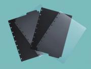 Divisorias Caderno Inteligente Preta e Transparente Medio