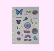 Folha de Adesivos Caderno Inteligente Malibu A5