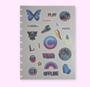 Caderno Inteligente Folha de Adesivos Malibu Grande