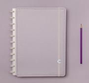 Caderno Inteligente Lilas Pastel Grande l Laranja Lima Presentes