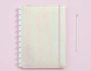 Caderno Inteligente Rosa Holografico Grande
