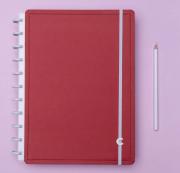 Caderno Inteligente Vermelho Cereja Grande
