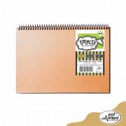 Caderno Sem Pauta Para Desenho Capa Kraft Folhas Pretas 180g Merci