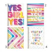 Caderno Universitário 10 Matérias Be Nice