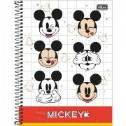 Caderno Universitario Mickey 10M 160fls