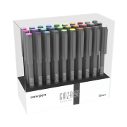 Caneta Brush Ginza Nano Newpen Display com 30