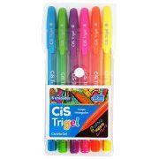 Caneta Cis TriGel Neon Com 6