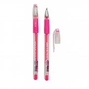 Caneta Gel Grip Molin Rosa Neon