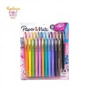Caneta Paper Mate Flair Candy Pop M 24 Cores
