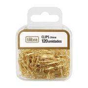 Clips 28mm Dourado com 120UN