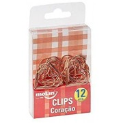 Clips Coracao Rose