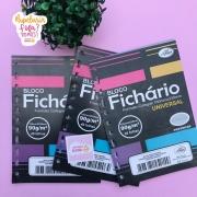 Folhas de Fichário Tamanho Colegial Papel Cinza 90g Merci