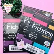 Folhas de Fichário Tamanho Universitário Papel Colorido Candy 90g Merci