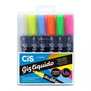 Giz Líquido Cis Neon Com 6 Cores