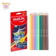 Lápis de Cor Pastel e Metálico Molin