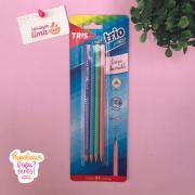 Lapis Tris Trio Pastel Com 4