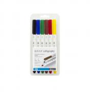 Marcador Cis Graf Calligraphy com 6 Cores