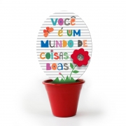 Mini Vaso Frases Coloridas Fina Ideia