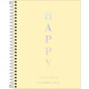 Planner Espiral Happy Amarelo 2022