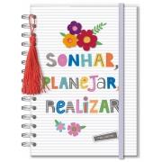 Planner Permanente Frases Coloridas Fina Ideia