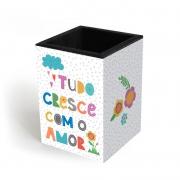 Porta Lápis Frases Coloridas Fina Ideia