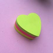 Sticky Notes  em Formato de Coração