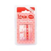 Washi Tape MOLIN Slim Love 5un Rosa