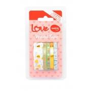 Washi Tape MOLIN Slim Love 5un Verde