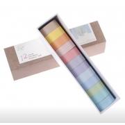 Washi Tape Pastel Kit com 12