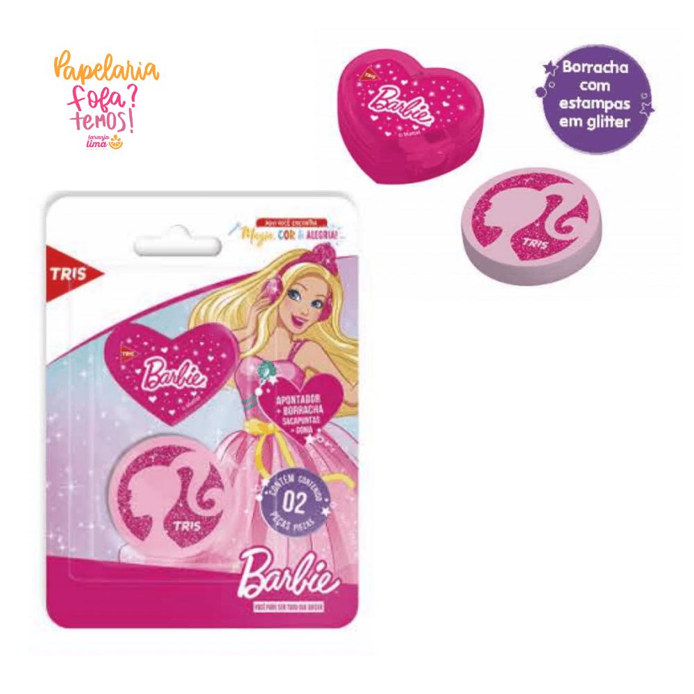 Apontador e Borracha Barbie TRIS
