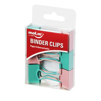 Binder Clips 25mm Soft Touch C/ 6