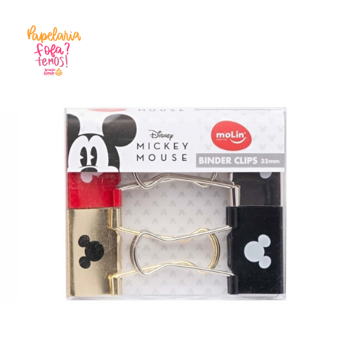 Binder Clips Mickey Molin 32MM Com 4