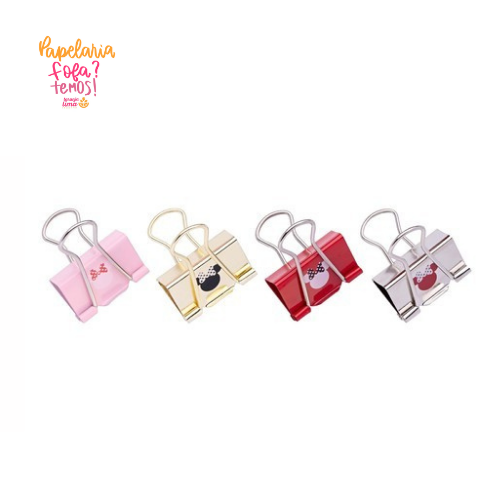 Binder Clips Minnie Molin 32MM Com 4