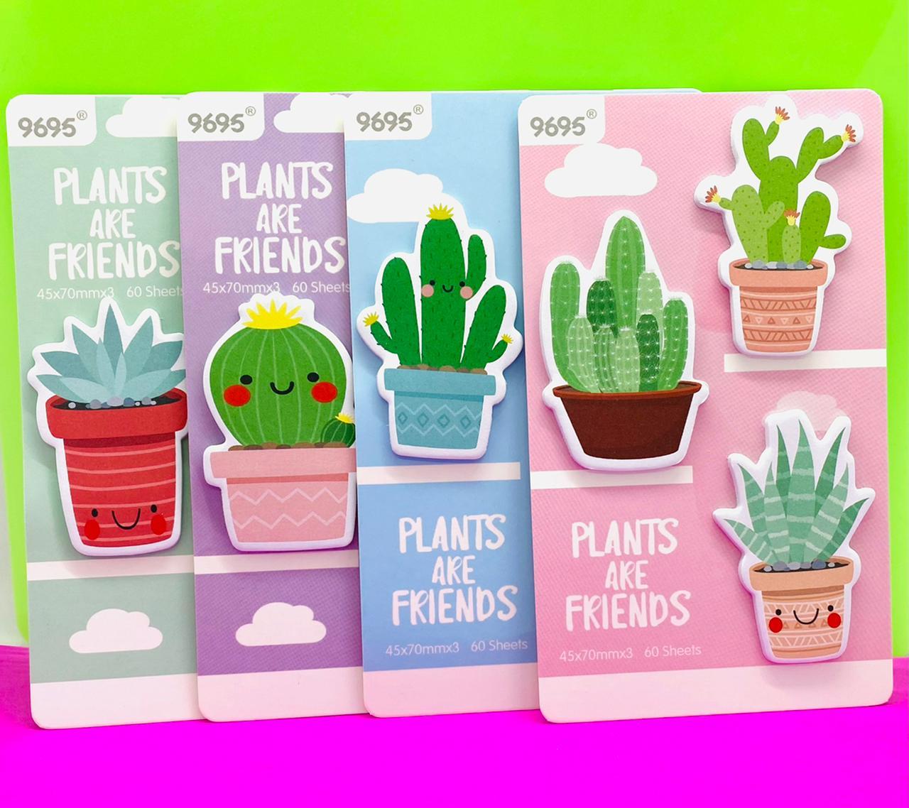 Bloco Adesivo Cactos Plants