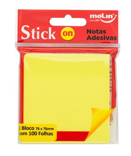 Bloco Adesivo Amarelo Molin