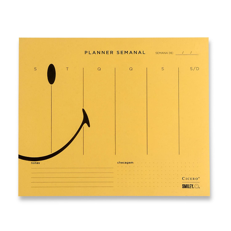Bloco Planner Semanal Cicero Smiley