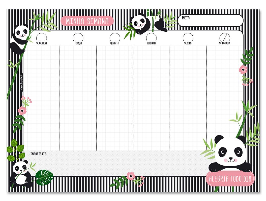 Bloco Semanal Panda Fina Ideia