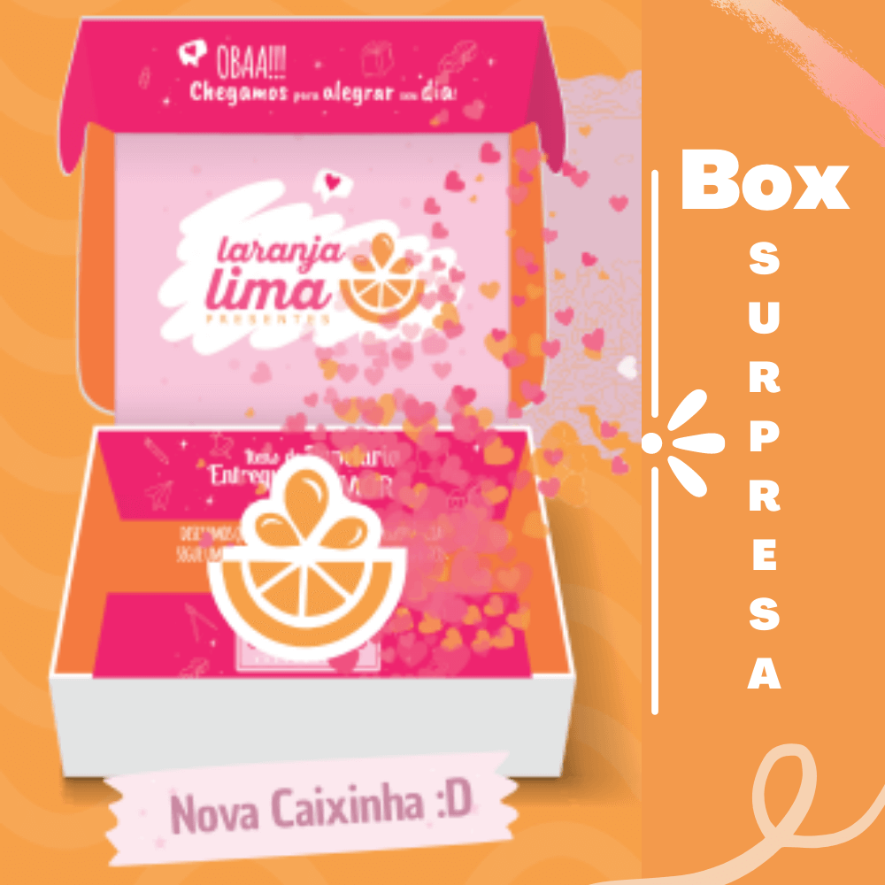 Box Surpresa Laranja Lima Presentes 100